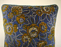 French c.1920s Art Deco cotton velvet cushion - picture 2