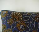 French c.1920s Art Deco cotton velvet cushion - picture 4