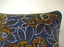 French c.1920s Art Deco cotton velvet cushion - picture 5