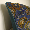 French c.1920s Art Deco cotton velvet cushion - picture 6