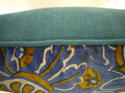 French c.1920s Art Deco cotton velvet cushion - picture 7