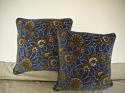 French c.1920s Art Deco cotton velvet cushion - picture 8