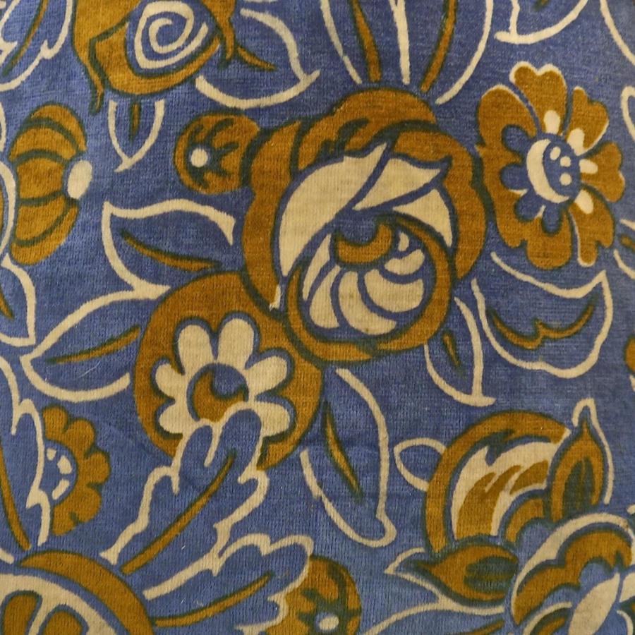 French c.1920s Art Deco cotton velvet cushion