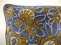 French c.1920s Art Deco cotton velvet cushion - picture 3