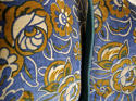 French c.1920s Art Deco cotton velvet cushion - picture 6