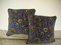 French c.1920s Art Deco cotton velvet cushion - picture 7