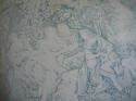 Toile de jouy faded blue linen cushion - picture 2
