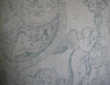 Toile de jouy faded blue linen cushion - picture 6