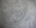 Toile de jouy faded blue linen cushion - picture 7