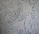 Toile de jouy faded blue linen cushion - picture 9