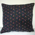 Pink flowers indigo cotton cushion 19thc - picture 1