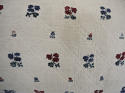 Wool woven flowers on linen cushion - picture 5