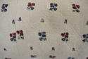 Wool woven flowers on linen cushion - picture 6