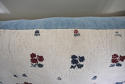 Wool woven flowers on linen cushion - picture 7