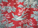 Pair of birds and foliage cotton curtains - picture 8