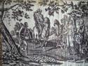 Purple Toile de Nantes Cotton Panel c.1805 - picture 5