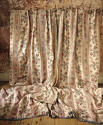 Pair of Floral Indienne Linen curtains French c.1880s - picture 1