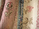 Pair of Floral Indienne Linen curtains French c.1880s - picture 10