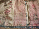 Pair of Floral Indienne Linen curtains French c.1880s - picture 11