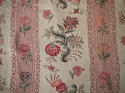 Pair of Floral Indienne Linen curtains French c.1880s - picture 2