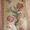 Pair of Floral Indienne Linen curtains French c.1880s - picture 3