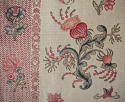 Pair of Floral Indienne Linen curtains French c.1880s - picture 4