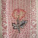 Pair of Floral Indienne Linen curtains French c.1880s - picture 5