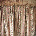 Pair of Floral Indienne Linen curtains French c.1880s - picture 7