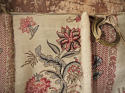 Pair of Floral Indienne Linen curtains French c.1880s - picture 9