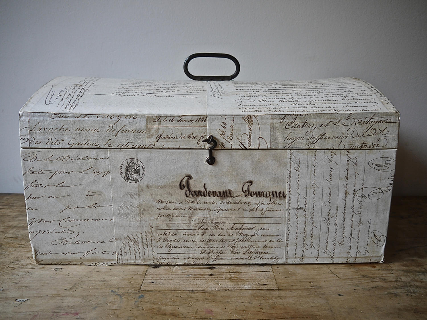 Customised antique  domed box