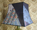 Vintage Silk patchwork Pagoda  lampshade - picture 3