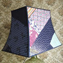 Vintage Silk patchwork Pagoda  lampshade - picture 6