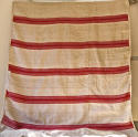 Red striped hemp cover French 19th century - picture 1