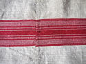 Red striped hemp cover French 19th century - picture 5