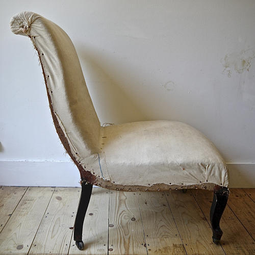 Napoleon III scroll back chair