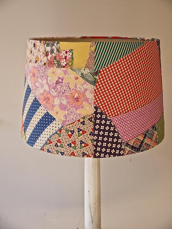 American Patchwork Vintage Feedsack Lampshade