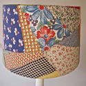 American Patchwork Vintage Feedsack Lampshade - picture 5