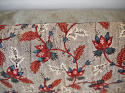 Red Blue Stylised Flowers blockprinted   cushion - picture 4
