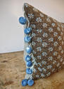 Pale Blue Floral Cushion French Antique - picture 4