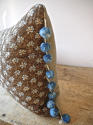 Pale Blue Floral Cushion French Antique - picture 5