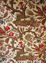Pair of Exotic Flowers cotton curtains antique French - picture 1