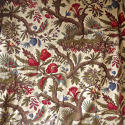 Pair of Exotic Flowers cotton curtains antique French - picture 2