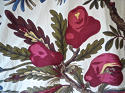 Pair of Exotic Flowers cotton curtains antique French - picture 5