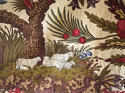 Pair of Exotic Flowers cotton curtains antique French - picture 6