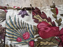 Pair of Exotic Flowers cotton curtains antique French - picture 7