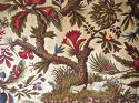 Pair of Exotic Flowers cotton curtains antique French - picture 8