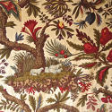 Pair of Exotic Flowers cotton curtains antique French - picture 9