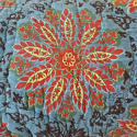 Yellow Flower Blockprinted Long Cushion - picture 2