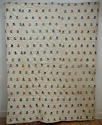 Wool flowers Woven on Linen Quilt French 18th century - picture 1