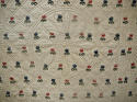 Wool flowers Woven on Linen Quilt French 18th century - picture 4